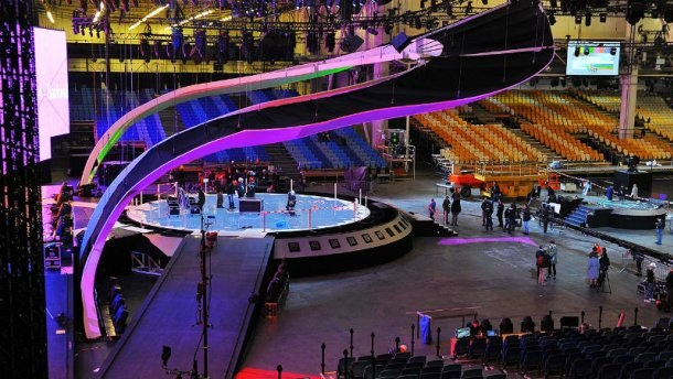 Строительство главной сцены Евровидения завершено