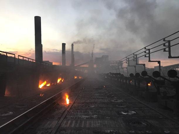 Авдеевский коксохим впервый раз  савгуста 2014-ого года  заработал наполную мощность