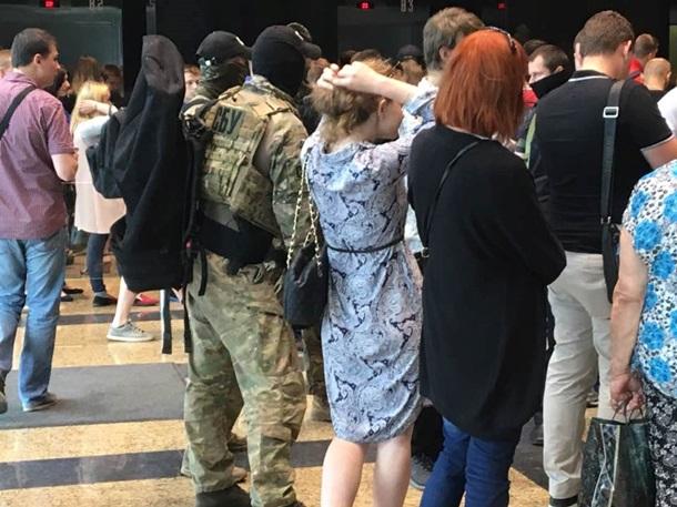 Вбизнес-центре «Гулливер» вКиеве работники СБУ устроили «маски-шоу»