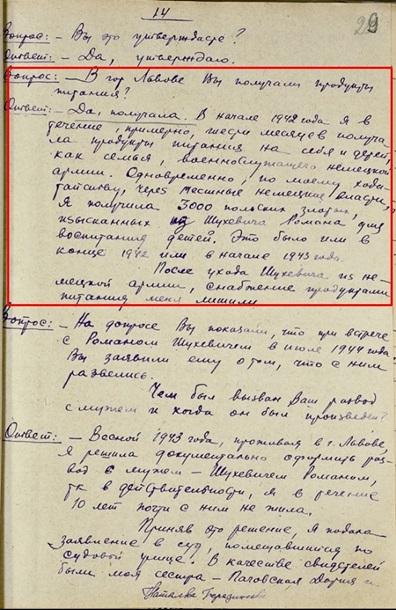 СБУ: Семья Шухевича получала паек от немцев