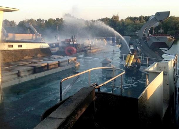 НаОдесчине пылало грузовое судно