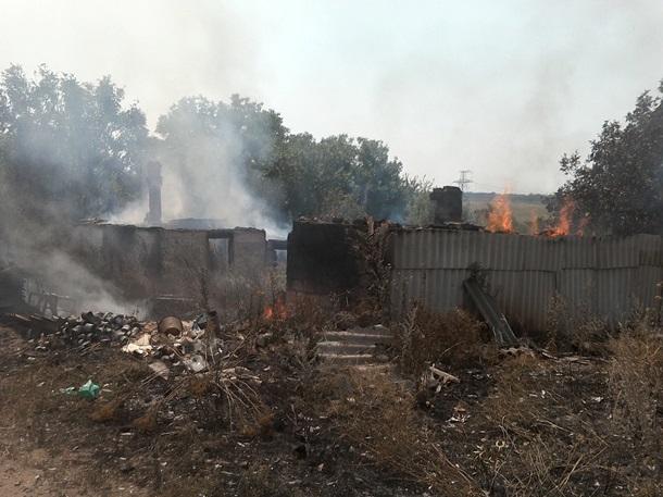 УЗайцевому внаслідок обстрілу терористів спалахнули два будинки