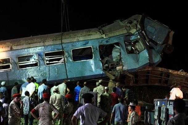 Столкновение поездов насевере Египта: десятки погибших