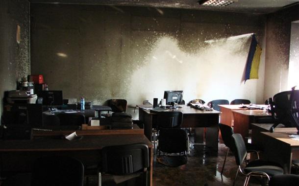 Последствия пожара в Киевблагоустройстве