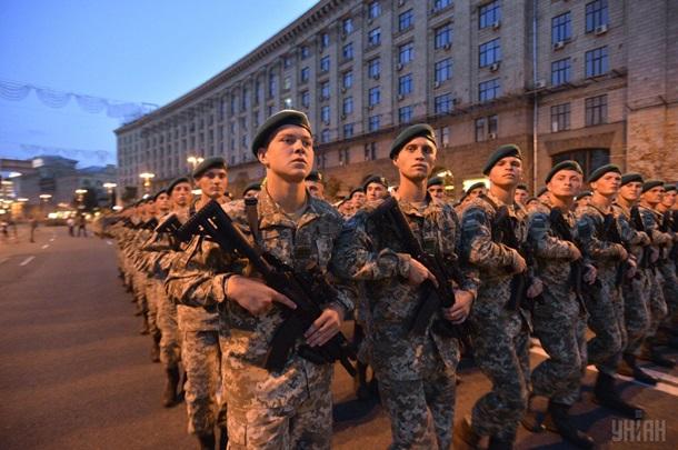 УКиєві відбулася репетиція параду до24 серпня
