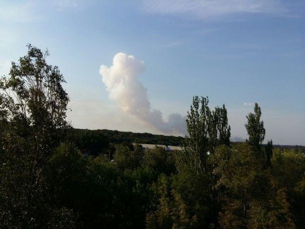 Взрыв ипожар вДонецке нахимзаводе сядерными отходами, новые детали
