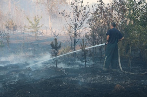 ГСЧС: около  Броварского проспекта вКиеве 4 гектара травы полыхает