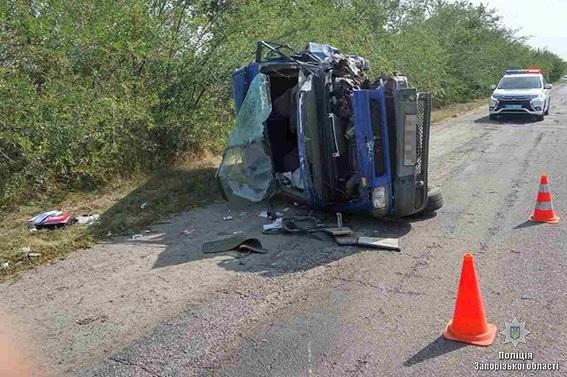 ДТП вЗапорожской области: умер полицейский