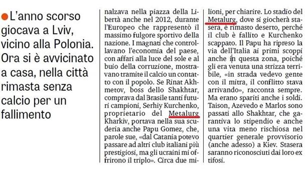 Итальянская спортивная газета Италии оскандалилась с«российским» Крымом