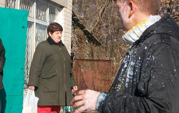 В Харьковской области неизвестные забросали яйцами свободовца Швайку и его соратников
