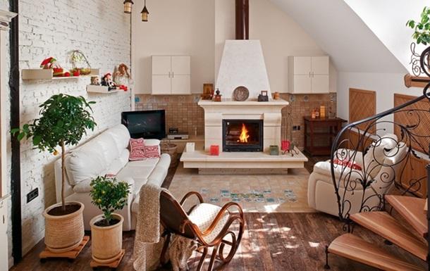 Дизайн интерьера двухуровневой квартиры с видом на Киев