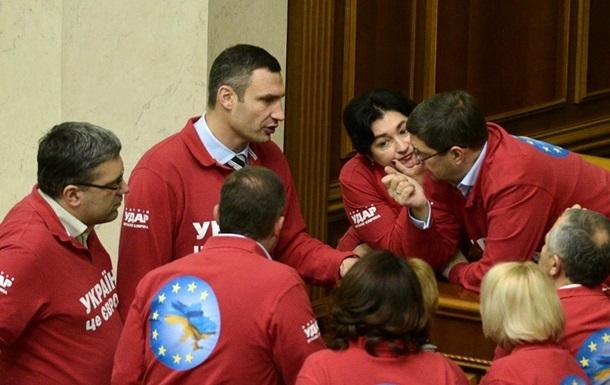 УДАР требует, чтобы Янукович пришел на внеочередное заседание Рады 13 ноября