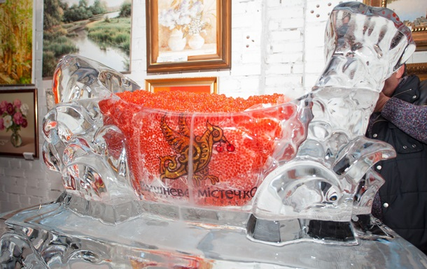 200-килограммовая рыба из льда и красной икры вошла в Книгу рекордов Украины