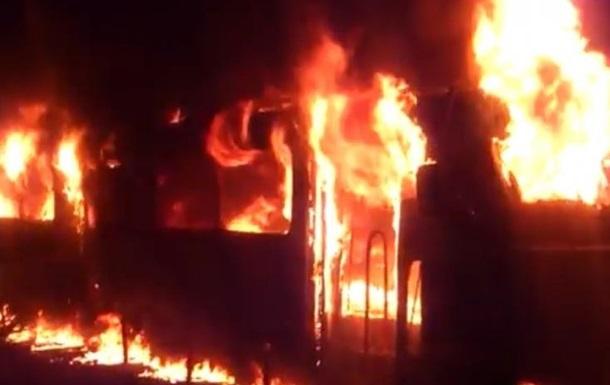 В Одессе на Французском бульваре сгорел трамвай