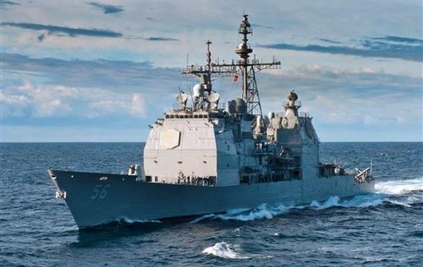 У калифорнийского побережья беспилотник врезался в крейсер ВМС США