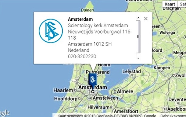 Суд в Амстердаме освободил церковь Саентологии от налога
