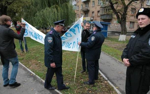 Бориспіль  очистили  від пікетників перед приїздом Президента