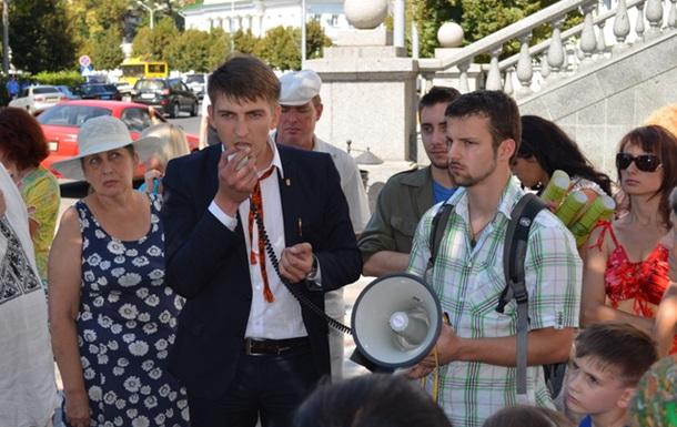Символ революції над чиновниками Полтави (ВІДЕО)
