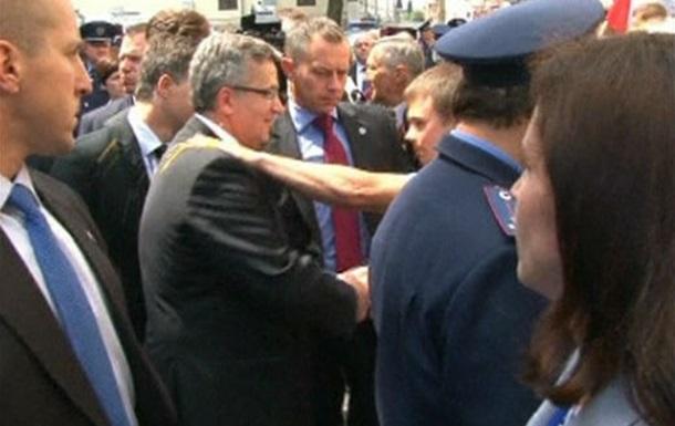 На президента Польши покушался  боец  запорожской  Славянской гвардии ?