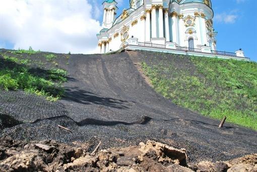 Туристичні об'єкти Києва можуть постраждати від зсувів. Карта.