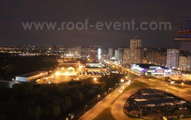 Новая тенденция среди влюбленных – ужин на крыше в Киеве.
