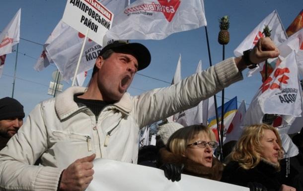 Результаты оппозиционного  митинга .