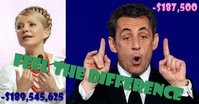 Чи краща Тимошенко за екс-президента Саркозі? - мабуть масштабами!