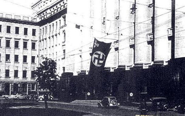 Просто історичне фото: Київ, вул. Банкова, 1942 рік.