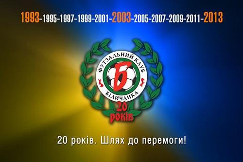 Футзальному клубу  Беличанка  - 20 лет!
