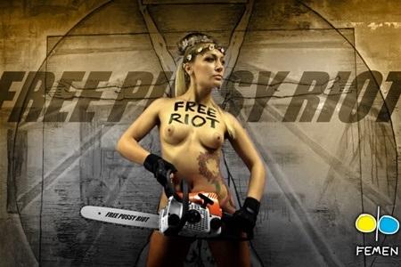 Бегство FEMEN: блондиада по голливудскому сценарию
