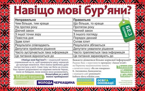 Суржик опасен для украинского языка