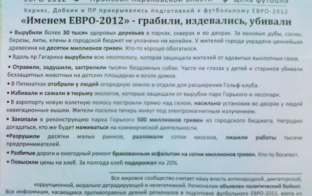 «Именем ЕВРО-2012» - грабили, издевались, убивали