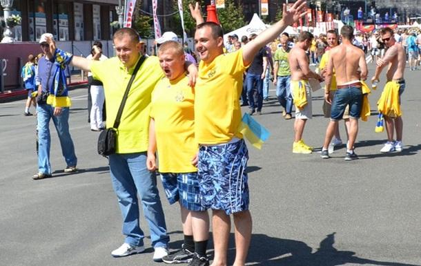 Киев, Украина - Швеция. День матча