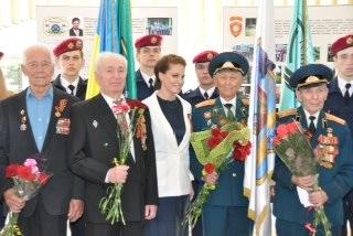 Ірина-Пілотка Бережна - привітала ветеранів війни (+ФОТО)