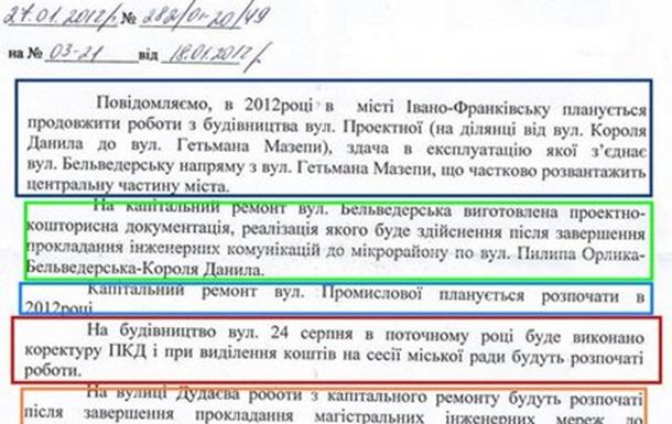 Івано-Франківськ. Дороги. 2011.