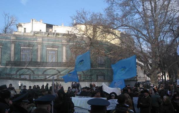 Підприємці Одеси похоронили партію Регіонів.