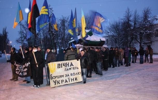 Звенигородка.  Свобода  і  Сокіл  провели смолоскипний Марш на честь Героїв Крут