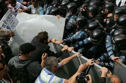 Майдан - 2011: Активісти vs Беркуту
