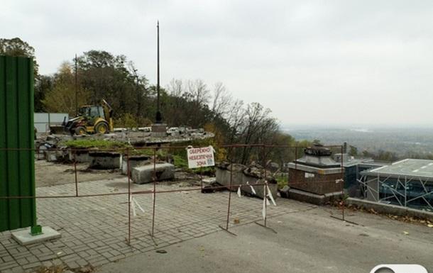 Реконструкція оглядового майданчика в Маріїнському парку
