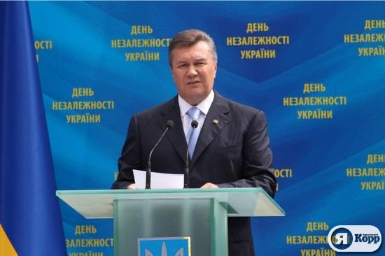 Виктор Янукович в день 22 годовщины независимости Украины
