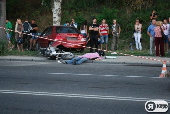 В Днепропетровске на набережной погиб мотоциклист