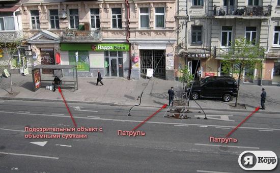 Милицейская охрана на киевском марафоне