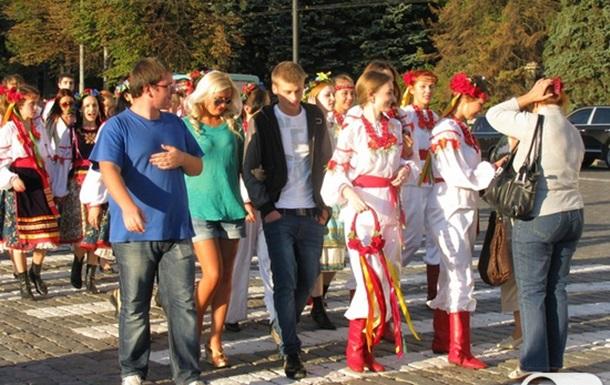 Парад высших учебных заведений в Харькове