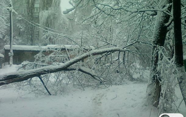 Снежная стихия в Киеве 11 декабря