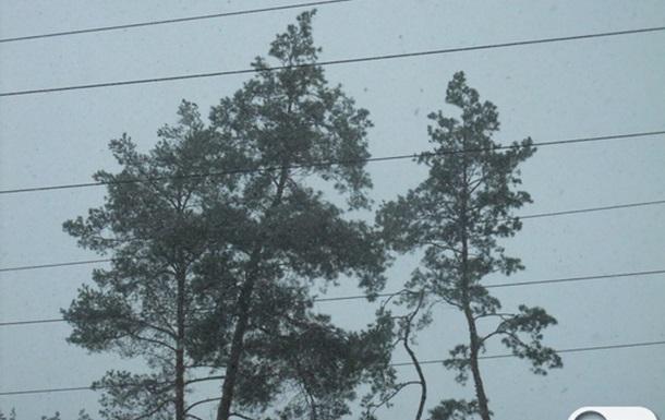 Зима в Києві. Перший сніг на Окружній