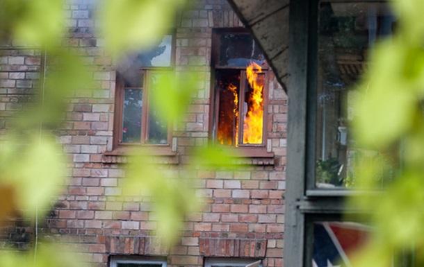 Пожар в квартире на Печерске