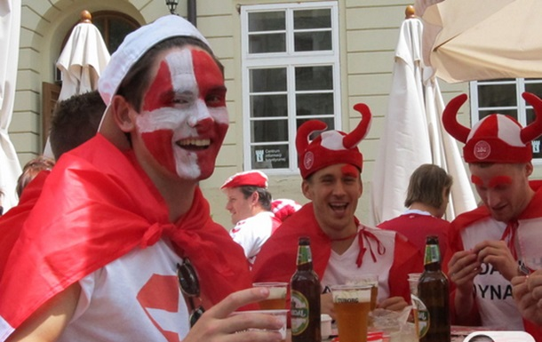 Danish Fans in Lviv
