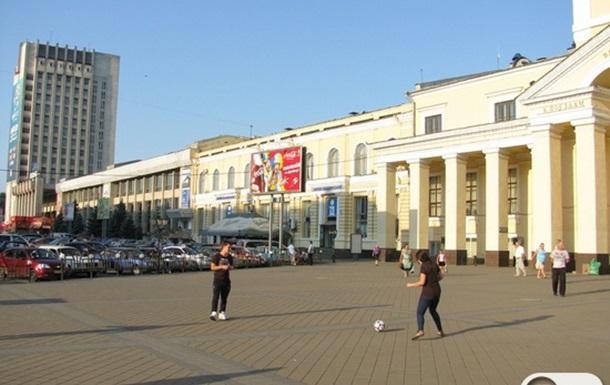 Футбол на привокзальной площади Харькова