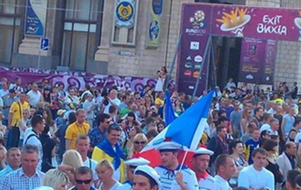 Киевская фан-зона накануне матча Украина-Англия