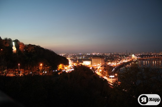 Вечерняя набережная Киева